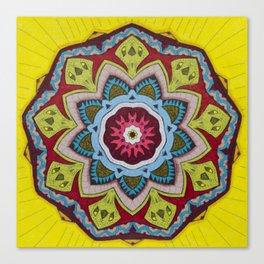 Blessing Mandala - מנדלה ברכה Canvas Print