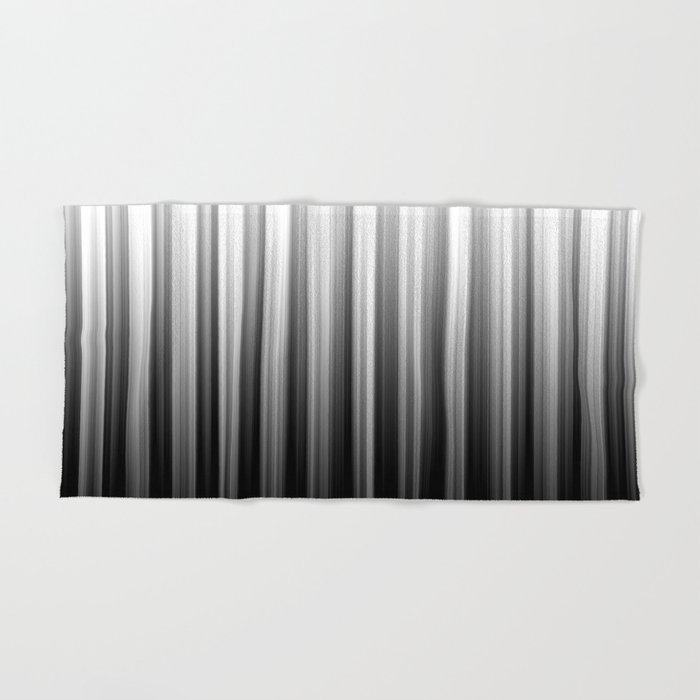 Black And White Soft Blurred Vertical Lines - Ombre Abstract Blurred Design Hand & Bath Towel