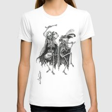 Danse Macabre (variation) MEDIUM White Womens Fitted Tee