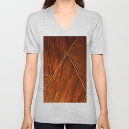 Geometric Grain Unisex V-Neck