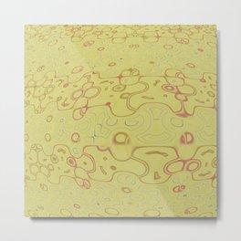 Yellow Puzzle Pattern Metal Print