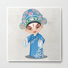 Beijing Opera Character LiuMengMei Metal Print