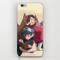 gravity falls iPhone & iPod Skins featuring Gravity Falls by Hikkaphobia