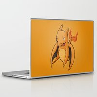 charizard Laptop & iPad Skins featuring Charizard Whale by CoolBreezDesigns