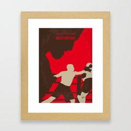 No723 My Southpaw minimal movie poster Framed Art Print