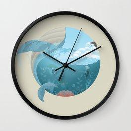 Whale Jump Wall Clock