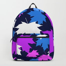 Autumn leaves in purple and blue colors Backpack