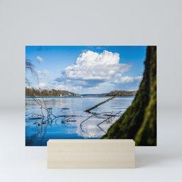 Cloudy Möhne Reservoir Lake 2 Mini Art Print