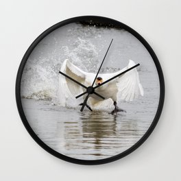 Swan take off Wall Clock