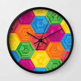 Rainbow Madchen's Hexis Wall Clock