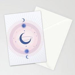 Moon Galaxy Stationery Cards