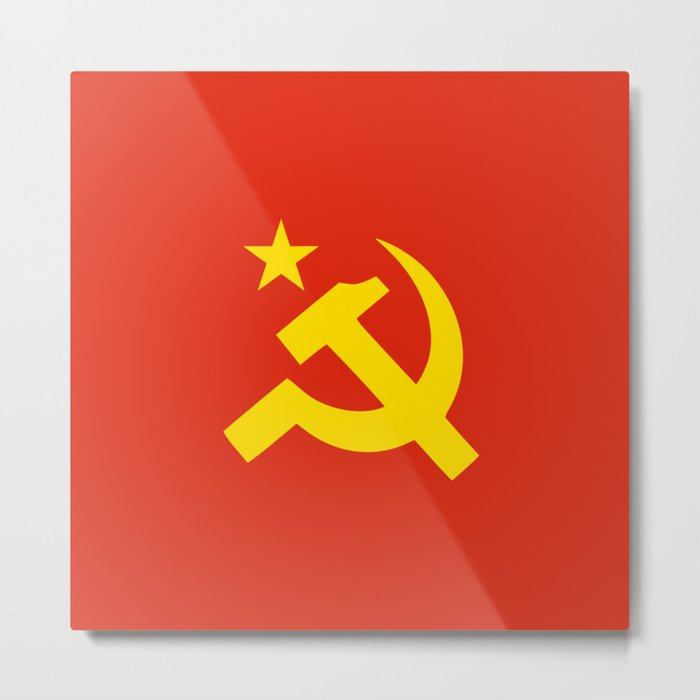 Communist Hammer & Sickle & Star Metal Print