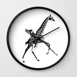 Giraffe Cowboy Wall Clock