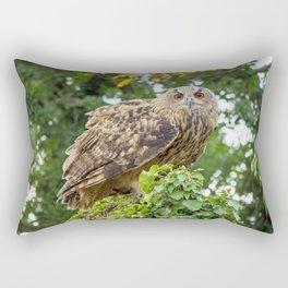The owl is watching you Rectangular Pillow