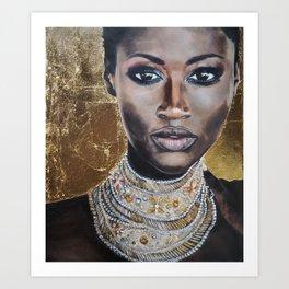 Graceful Ebony Art Print