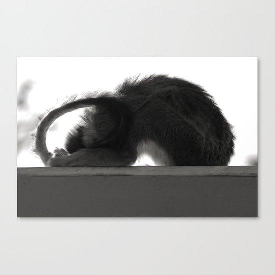 Yoga Monkey Canvas Print