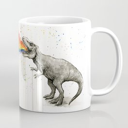 T-Rex Dinosaur Vomits Rainbow Coffee Mug