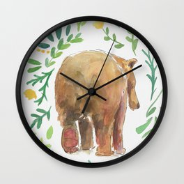 Watercolor Bear Wall Clock