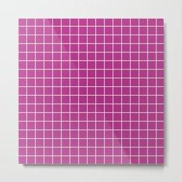 Fandango - violet color - White Lines Grid Pattern Metal Print