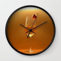 blush Wall Clocks featuring blush by gzm_guvenc