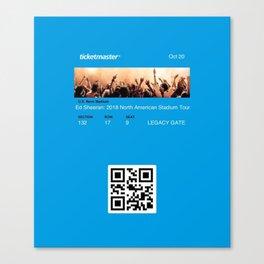 Concert Ticket Stub - Edward Sheeran Canvas Print