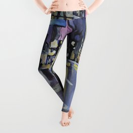 Evening Lights of the Burgh Leggings