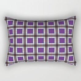 Indigo Purple Plaid Pattern Rectangular Pillow
