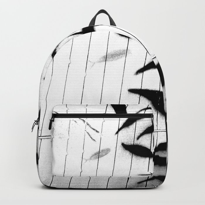 Kelp Wall in Black and White Backpack