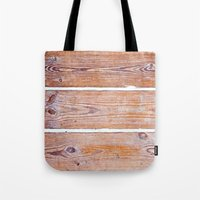 wooden Tote Bags featuring Wooden Boards by Patterns and Textures