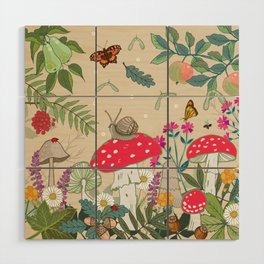 Toadstools in the Woods Wood Wall Art