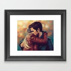 You put your arms around me Framed Art Print