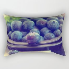 Blueberry plate Rectangular Pillow