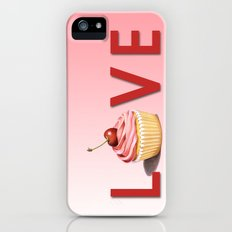 Perfect Pink Cupcake LOVE Slim Case iPhone (5, 5s)