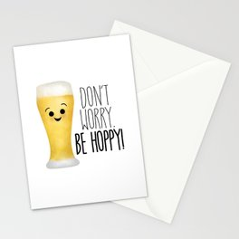 Beer | Don't Worry Be Hoppy Stationery Cards