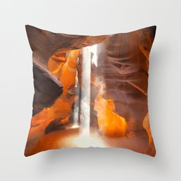 Antelope Canyon Beams Throw Pillow
