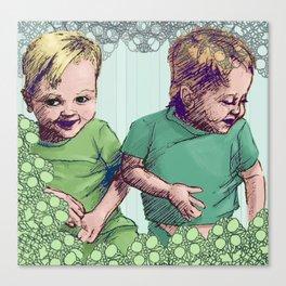 Babies Blue Canvas Print