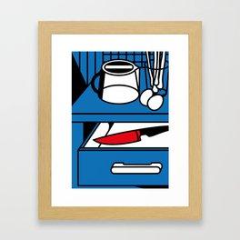 Kitchen knife Framed Art Print
