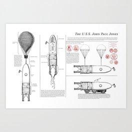The USS John Paul Jones Art Print