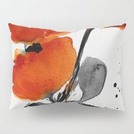 red Poppys Pillow Sham