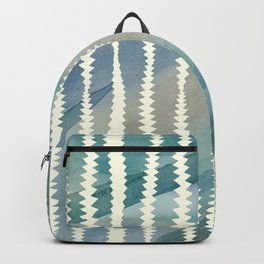 Banksia Leaf Lines in Blue and Butter Backpack