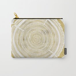 Douglas Fir – Gold Tree Rings Carry-All Pouch