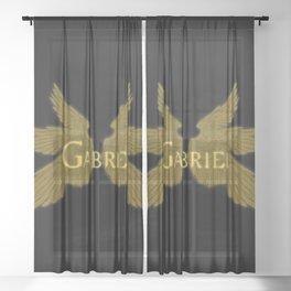 Archangel Gabriel Wings Sheer Curtain