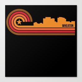 Retro Style Wheaton Maryland Skyline Canvas Print