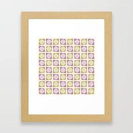 Mid Century Modern Pattern 273 Purple Chartreuse Framed Art Print