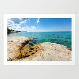 The Coves on Lake Superior - Pictured Rocks Art Print