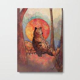 The relaxing bear Metal Print