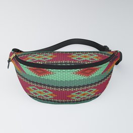 Latino  ethnic ornament, pattern, mosaic, embroidery. Fanny Pack