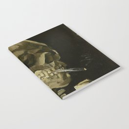 SKULL OF A SKELETON WITH BURNING CIGARETTE - VINCENT VAN GOGH Notebook