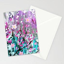 Sakura in the wind Stationery Cards