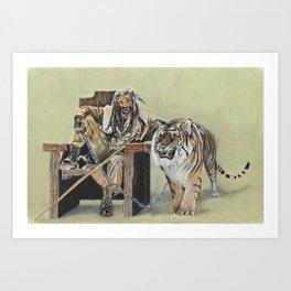 King Ezekiel and Shiva Art Print